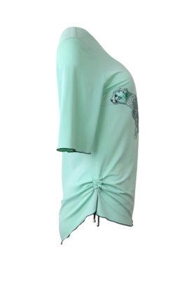 Shirt, Gepard-embroidery, Kurzarm