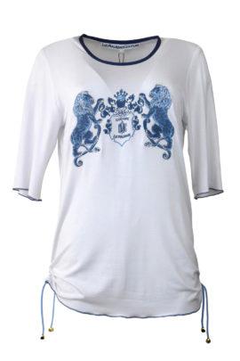 "Shirt mit ""Heraldic-lion-embroidery"", Kurzarm"