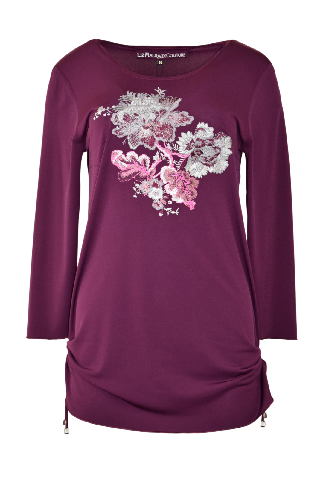"Shirt mit ""paisley-embroidery"",Langarm, 51.500 stitches"