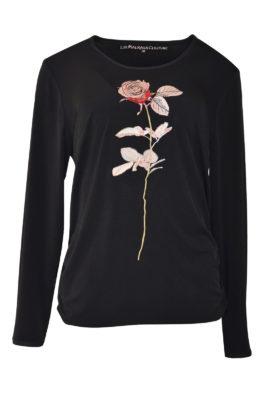 "Shirt mit ""baccara-embroidery"", Singlejersey, Langarm"