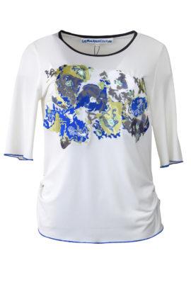 """Shirt mit """"art-flower-embroidery"""", Kurzarm"""