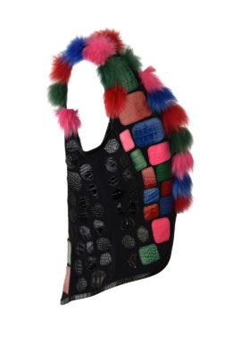 Krokoweste, Multicolor, mit Fuchsverbrämung