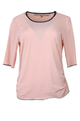 Shirt, uni mit Kontrasten, Kurzarm