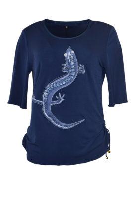 """Shirt mit """"salamander-embroidery"""" und Swarovski-Kristallen, Kurzarm"""