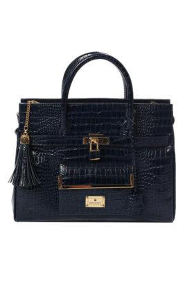 Classic Bag, Leder, Außentasche, 2 Innentaschen
