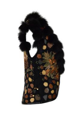 """Weste mit """"autumn colours-embroidery"""", Fuchsverbrähmung"""