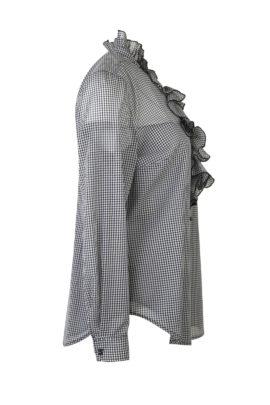 Bluse mit Jabot und eingearbeiteten Top, Reine Seide