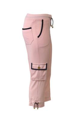 Pluderhose mit Cargo-Taschen, schwarzen Kontrasten und LMC-Gold-Logo, Jersey