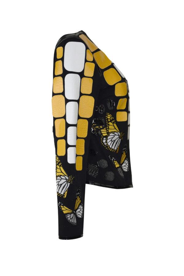 """Krokojacke mit """"butterfly-embroidery"""" und runden Halsausschnitt, Multisize"""