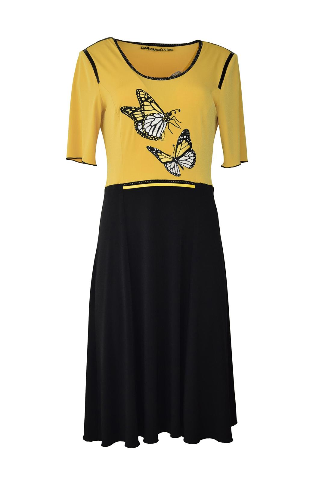 """Kleid, Singlejersey mit """" butterfley-embroidery"""", Kurzarm"""