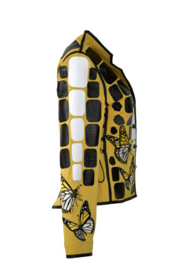 """Krokojacke mit """"butterfly-embroidery"""" und französischem Kragen, Multisize"""