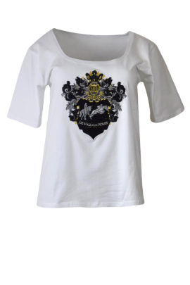 "Shirt mit ""Liz Malraux Horses-embroidery"", Baumwolle, Kurzarm"