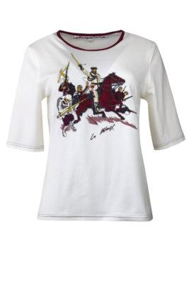"Shirt mit ""cavalerie-embroidery"", Kurzarm"