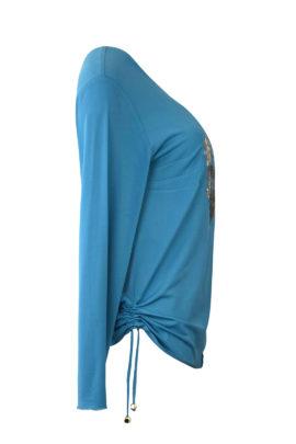 "Shirt ""Classic"" mit ""heraldic-embroidery"", Langarm"