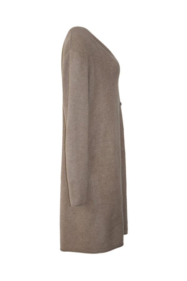 Cardigan, 100% Kaschmir, lang mit 4 Knöpfen