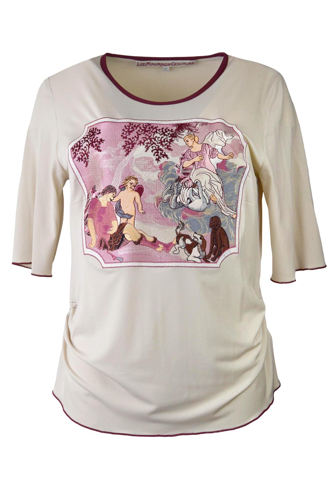 "Shirt mit ""gobelin-embroidery"", Kurzarm, stitches: 129.900"
