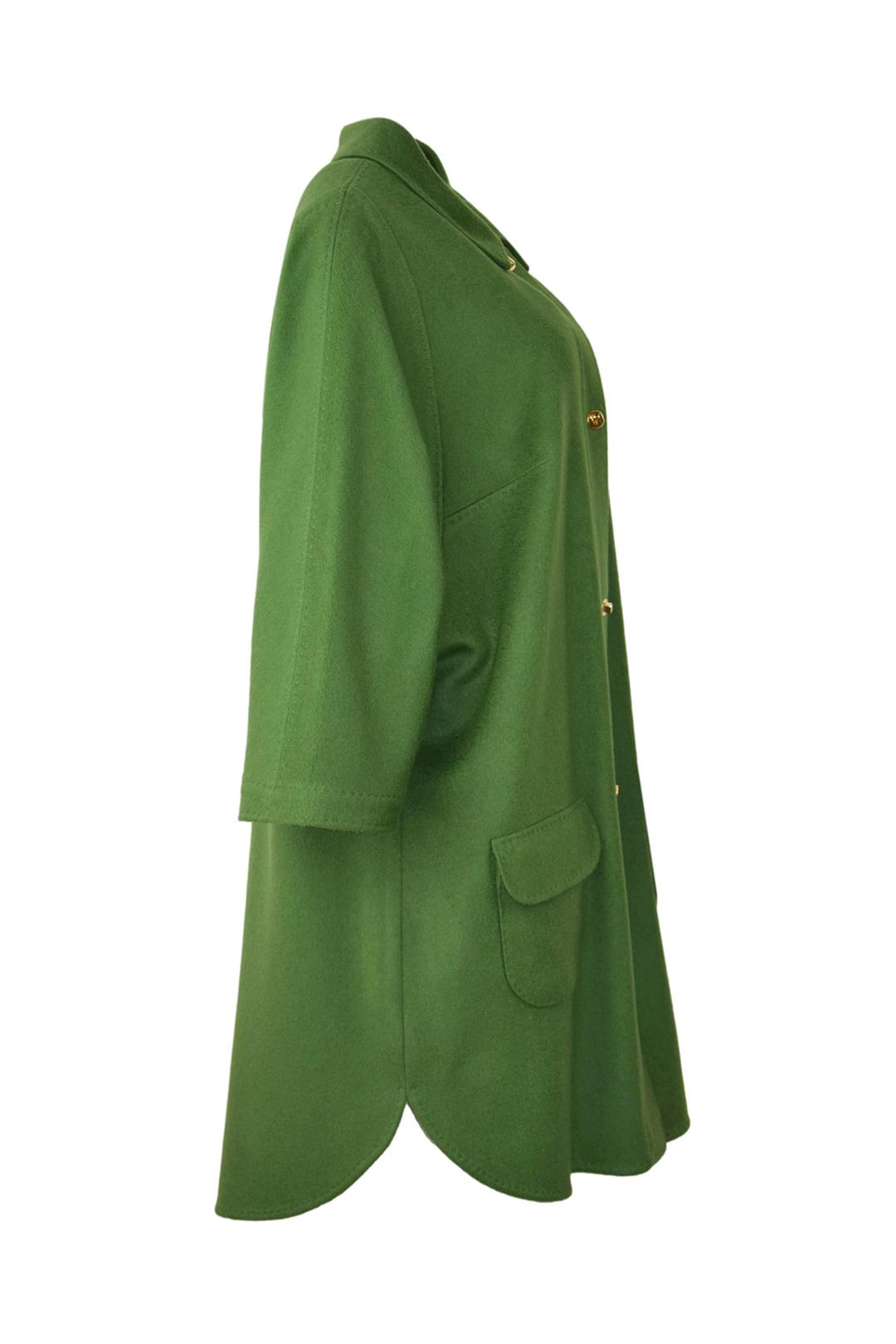 Mantel in T-Cut-Style mit vergoldeten Drehverschlüssen, 100% Kaschmir