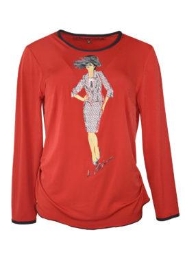 "Shirt mit ""Zoe-Model-embroidery"", Langarm"