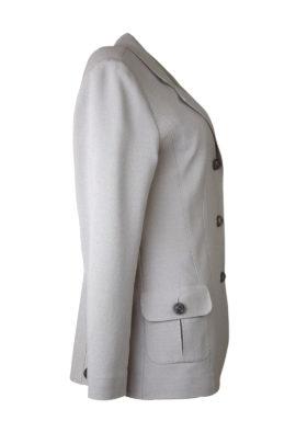 Blazer mit aufgesetzten Taschen, Georgette, stone
