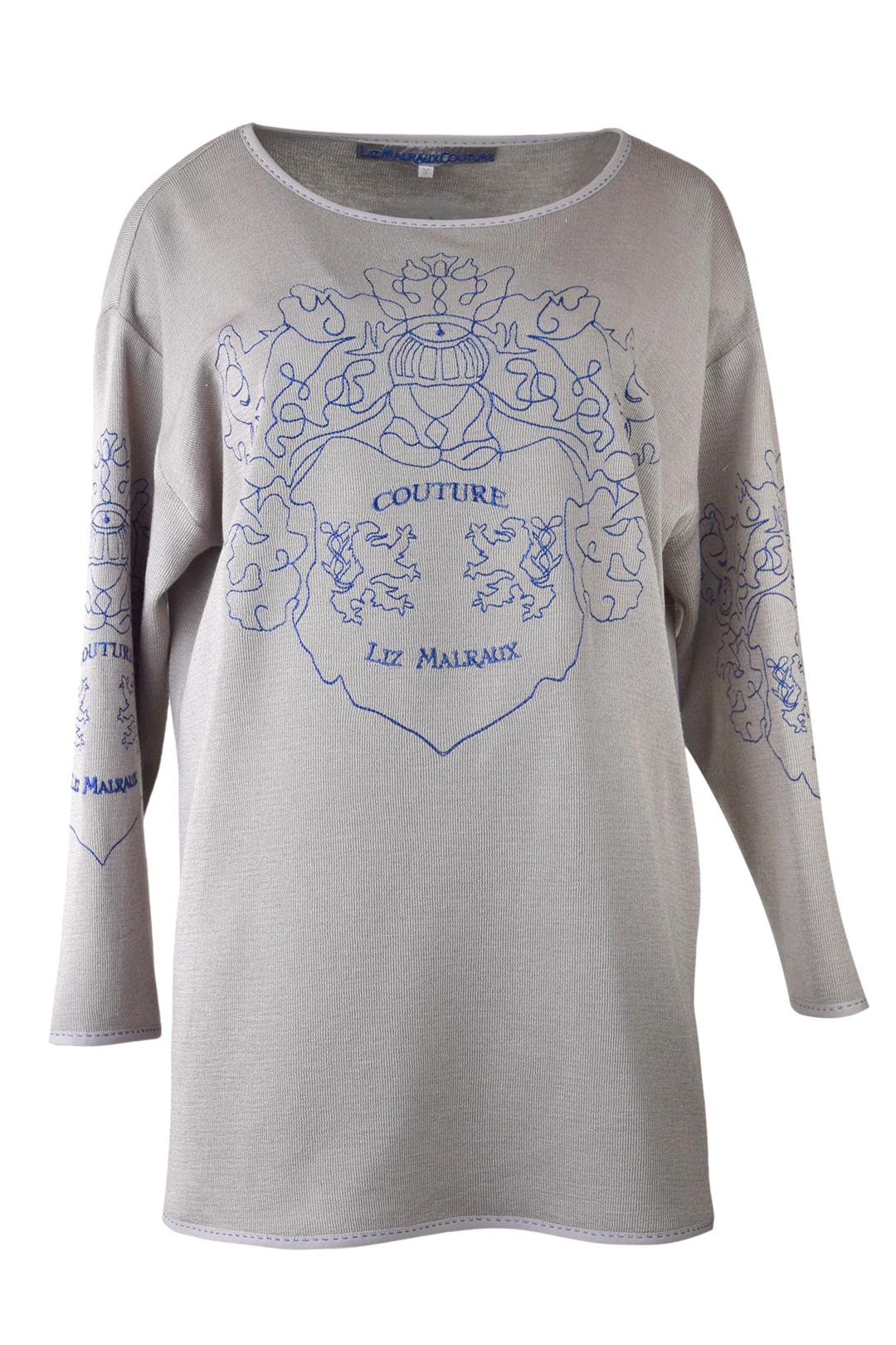"Pulli mit ""shadow-heraldic embroidery"", 4 Motive, Baumwolle & Polyester"