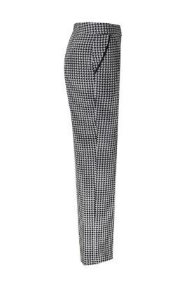Hose mit Taschen, Pepitamuster, reine Seide, Seide: Valentino Fabric