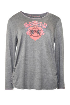 "Shirt mit ""heraldic-lion-embroidery"", Langarm"