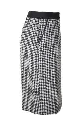 Rock mit Taschen, Pepitamuster, reine Seide: Valentino Fabric